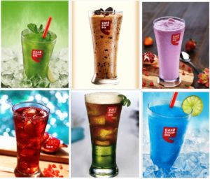 Cafe Coffee Day Collage